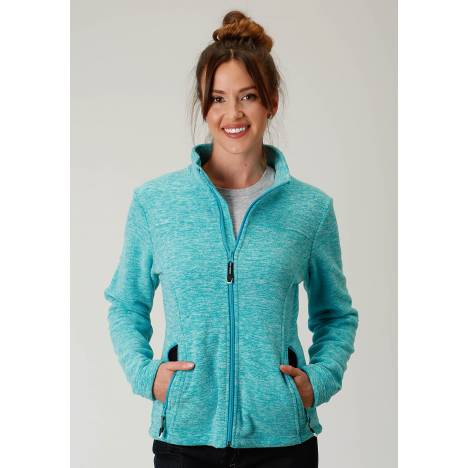 Roper Micro Fleece Jacket- Ladies-Turquoise