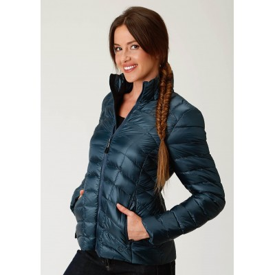 Roper Crushable Parachute Jacket-Ladies-Teal