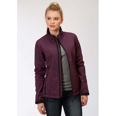 Roper Soft Shell Jacket-Ladies-Navy/Fuchsia