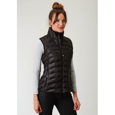 Roper Rangegear Lightweight Down Vest-Ladies-Black