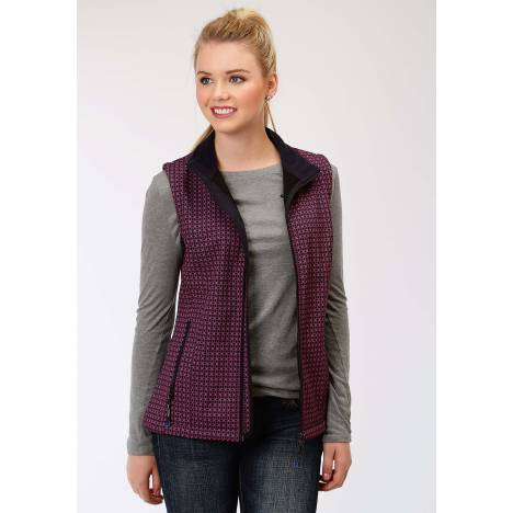 Roper Soft Shell Vest-Ladies-Navy/Fuchsia
