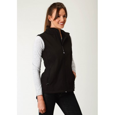 Roper Soft Shell Vest-Ladies-Black