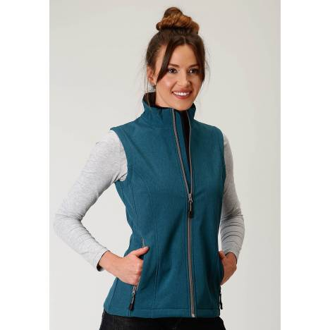 Roper Soft Shell Vest-Ladies-Teal