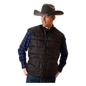 Roper Rangegear Down Vest - Mens - Black