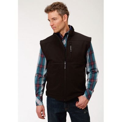 Roper Conceal Carry Soft Shell Vest - Mens - Black