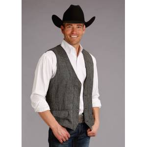 Stetson Wool Blend Vest - Mens - Grey