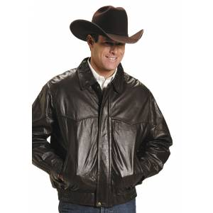 Roper Big Mans Western Bomber Jacket - Mens - Brown