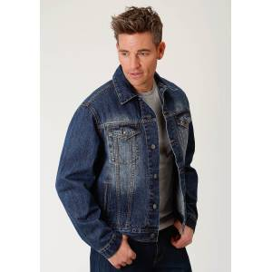 Roper Rangegear Denim Jean Jacket - Mens - Blue