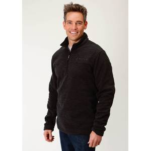 Roper Rangegear Fleece Pullover - Mens - Charcoal