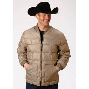 Roper Rangegear Down Jacket - Mens - Khaki