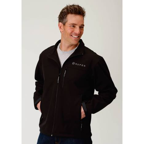 Roper Bonded Softshell Jacket - Mens - Black