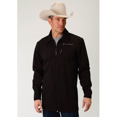 Roper Bonded Softshell Barn Jacket - Mens - Black