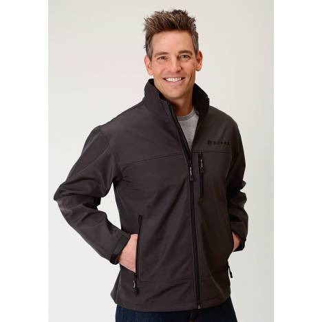 Roper Bonded Jacket - Mens - Charcoal