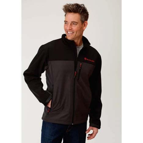 Roper Bonded Jacket - Mens - Grey - Black