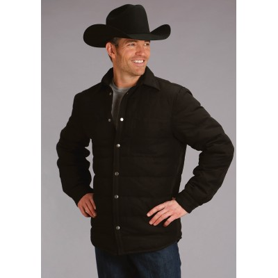 Stetson Suede Leather Bomber Jacket - Mens - Brown