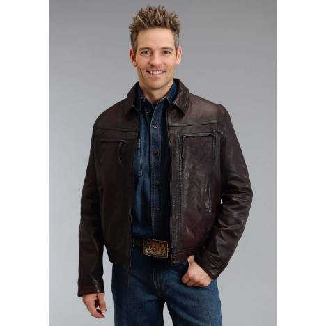 Stetson Smooth Leather Jacket - Mens - Brown