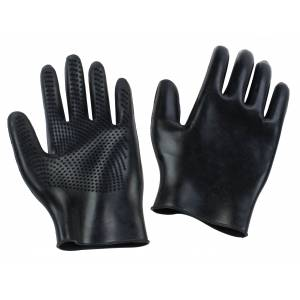 Equi-Essentials Curved Finger Grooming Gloves - Pair