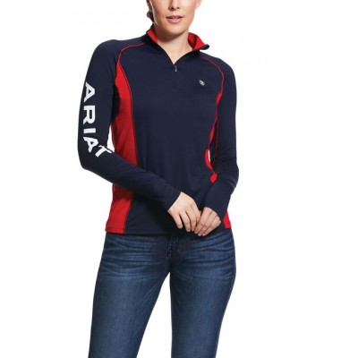 Ariat Ladies Tri Factor 1/4 Zip Top