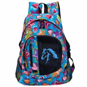 Lila Galloping Horse Stars & Hearts Backpack