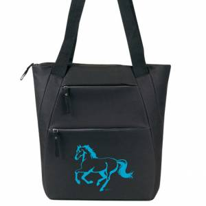 Lila Linear Horse Tote Bag