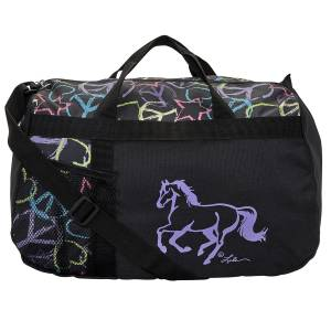 Lila Galloping Horse Peace Sign Duffle Bag