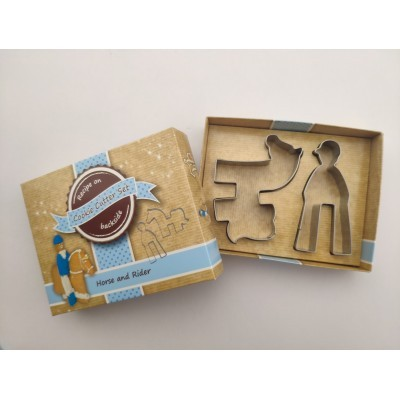 Cookie Cutter set in Gift Box, Horse & Rider