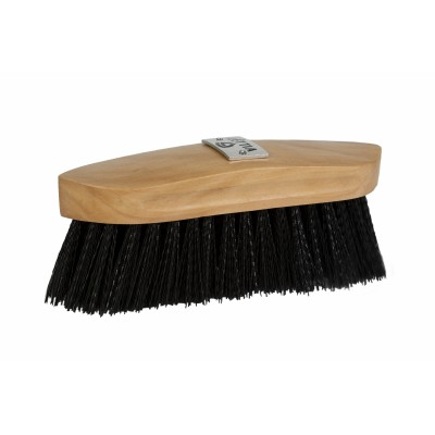 Lettia Collection Plastic Bristle Dandy Brush Wood Back