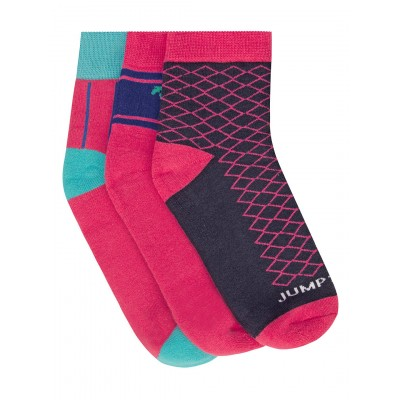 JumpUSA Terry Cotton 3 Pack Socks Ladies