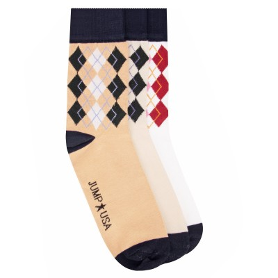 JumpUSA Cotton 3 Pack Socks Mens