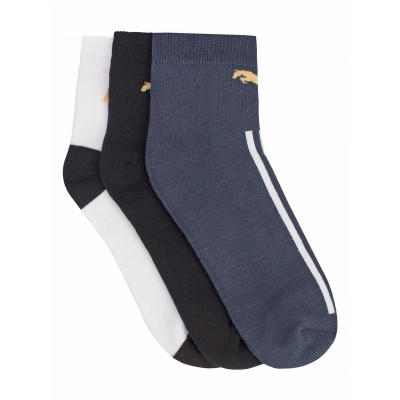 JumpUSA Terry Cotton 3 Pack Socks Mens