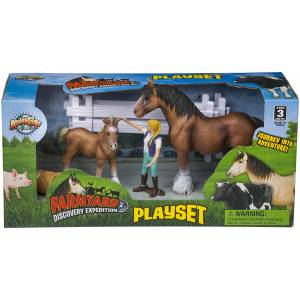 Gift Corral Farmyard Discovery Expedition Horse Playset