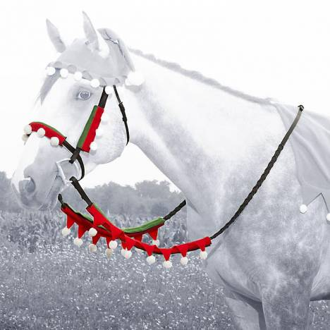 Holiday Elf Halter & Rein Cover Set from Tough-1