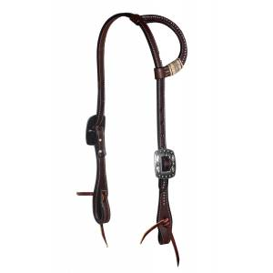 Professionals Choice Black Rawhide Dotted One-Ear Headstalls