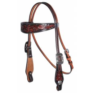 Professionals Choice Floral Browband Headstall