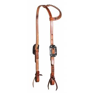 Schutz By Professionals Choice Spotted Sliding-Ear Headstall - Arrow Buckle