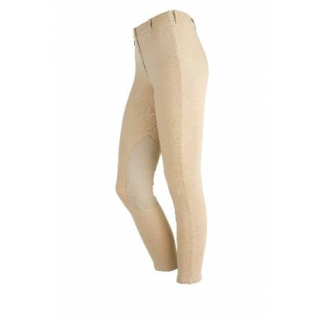 On Course Ladies Cotton Natural Pull On Riding Breeches