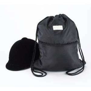 Lettia Black Helmet Back Sack