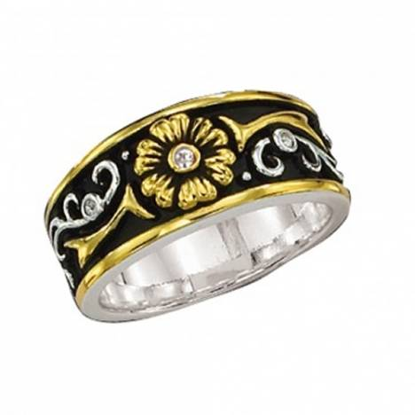 Montana Silversmiths Solitare Golden Flower Ring