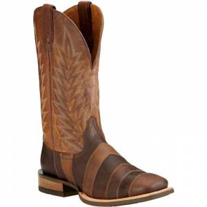 Ariat Qualifier Square Toe Western Boots - Mens - Desert Brown Taupe