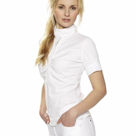 Gersemi Short Sleeve Button Competition Shirt - Ladies - White