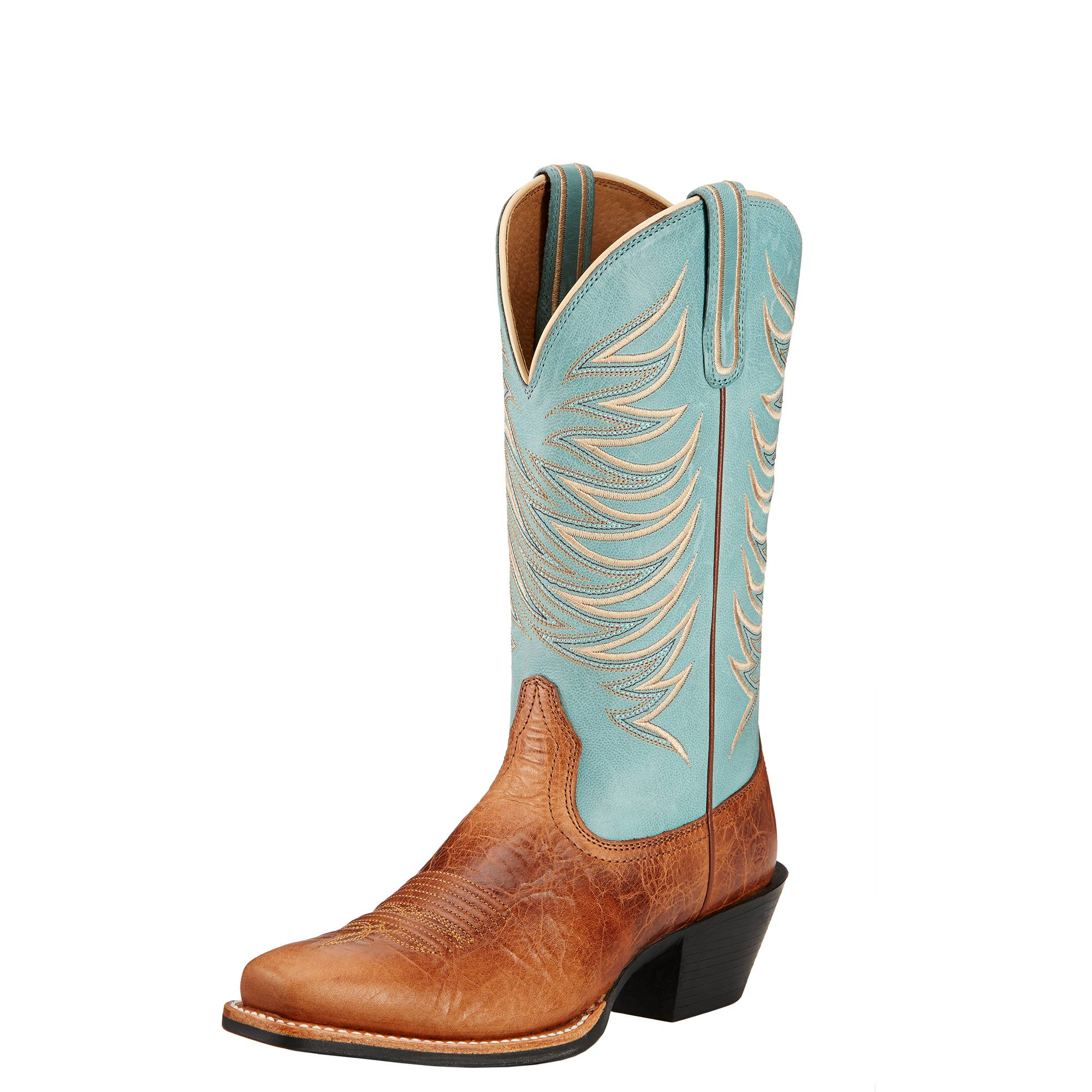 e85dcc9246d Ariat Legend Legacy Boots Ladies Gingersnap Sky Blue