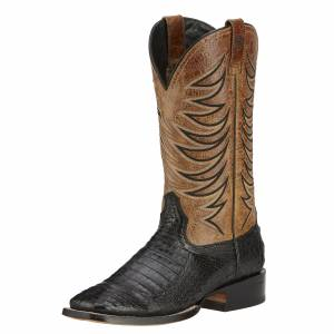 Ariat  Fire Catcher - Mens -  Black Caiman Belly/Tan