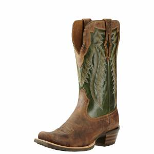 Ariat  Futurity  - Mens -  Branding Iron Tan/Neon Lime