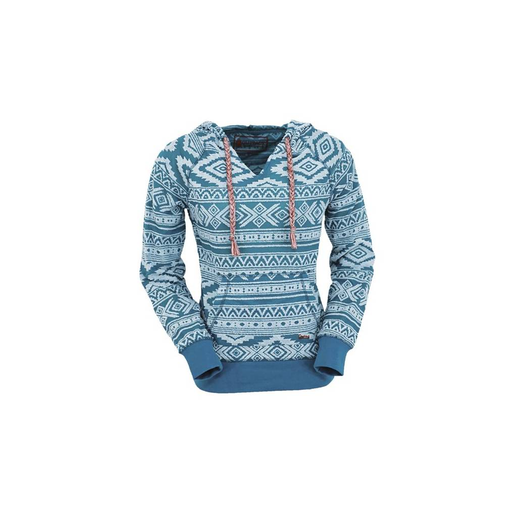 Outback Trading Bohemian Burnout Hoodie - Ladies