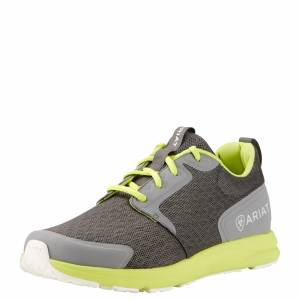 Ariat  Fuse Athletic Shoes - Mens - Charcoal Mesh/Neon Green