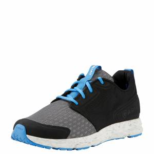 Ariat  Fuse Athletic Shoes - Mens - Charcoal Mesh/ Black