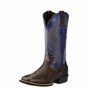 Ariat  Catalyst Prime Western Boots - Mens - Glazed Bark/Twilight Blue