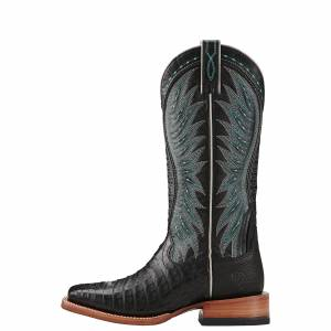 Ariat Vaquera Caiman Belly  - Ladies - Black/Black