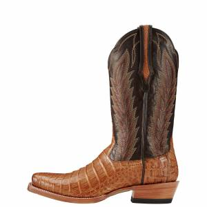 Ariat Turnback Caiman Belly - Mens - Tan/Chocolate