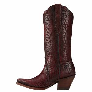 Ariat Catrina - Ladies - Naturally Red Croc Print